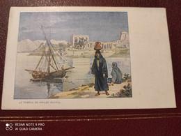 Ancienne Carte Postale  - Gaufrettes & Biscuits Vignals Fils & Cie - Le Temple De Philee Egypte - Other Illustrators