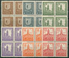 SBZ West-Sachsen 1946 Abschied Mit WZ Y Steigend, 150/55 Y 4er-Block Postfrisch - Sowjetische Zone (SBZ)