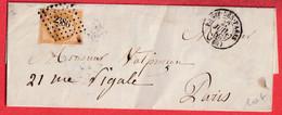 N°13 PC 2386 PASSY LES PARIS POUR PARIS RECETTES REUNIES - 1849-1876: Classic Period