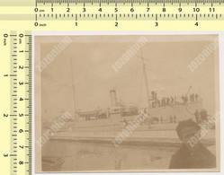 REAL PHOTO, 1925 Brod  Navy Ship Kingdom Yugoslavia Royal Navy  Vintage Original Snapshot - War, Military