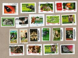 BRD - Privatpost - 19 W - Tiere Animals - Vögel, Katzen, Schmetterling, Bison, , Und Mehr - Sonstige