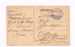 Feldpostkarte.Expédié De 1.Bayer.Res.Div. à Döllnitz. - Lettres & Documents