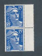 FRANCE - N° 886a) NEUF** SANS CHARNIERE AVEC VARIETE SUR CHIFFRE 15 - 1951 - Curiosities: 1950-59 Mint/hinged
