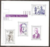 2020 - Nouveau Bloc Feuillet  Charles DE GAULLE  NEUF** LUXE MNH - Mint/Hinged