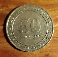 50 Euro Cent Token Casinos De Catalunya Barcelona Spain - Casino