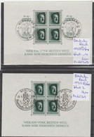 TIMBRES D ALLEMAGNE  OBLITEREES 2 BLOCK 1937  Nr VOIR SUR PAPIER AVEC TIMBRES  COTE   76.00 € - Gebraucht
