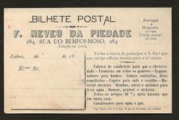 Postal Antigo: REI D.MANUEL II Palacio Das Necessidades. Publicidade Fabrica / Loja Na Rua Do Bemformoso LISBOA Portugal - Koninklijke Families