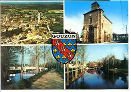 23230 GOUZON - Vue Générale, église, Pont, Bords De La Rivière Voueize, Blason - Andere Gemeenten