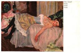 Tableau 767 Edw Cucuel, Sieste (femme Allongée - Paintings