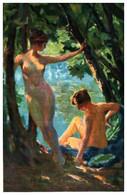 Tableau 768 F M Bredt, La Baignade (femme Nue - Paintings