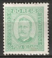 Ponta Delgada 1892 Sc 8  MH* Some Disturbed Gum - Ponta Delgada