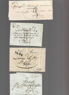 LOT    4  MARQUES POSTALES     2 SCANS - 1801-1848: Vorläufer XIX