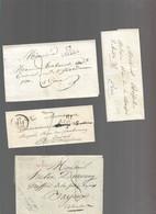LOT    4  MARQUES POSTALES     2 SCANS - 1801-1848: Precursores XIX