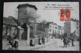 CPA Ile De France - Paris – 153. Vieux Montmartre Place J.B. Clément Et L'Ancien Réservoir – Animée – A Voyagé. - Sin Clasificación