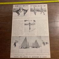 1928 PATI Galas Sur Glace Et Patinage Yachting à La Voile Phil Taylor Patins à échasse Elsie Dircksen Erna Renoli - Zonder Classificatie