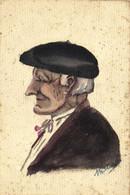 Carte Unique Portrait D'un Basque SignéRV - Non Classificati