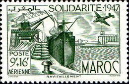 Maroc (Prot.Fr) Avion N** Yv: 65/66 Oeuvres De Solidarité - Airmail