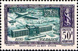 Maroc (Prot.Fr) Avion N** Yv: 83 Mi:333 Sanatorium De Ben Smine - Airmail