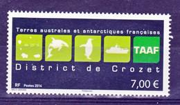 TAAF 709 Logo De Crozet 2014 Neuf ** TB MNH Sin Charnela Faciale 7 - Neufs