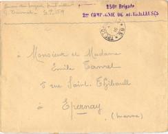 GUERRE 14-18 Sergent Mitrailleur TRESOR ET POSTES * 59 * 1916 - 250e Brigade 2me COMPAGNIE DE MITRAILLEUSES - Guerre De 1914-18