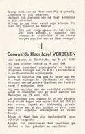 Priester, Prêtre, Abbé, Jozef Verbelen, ,Steenhuffel,,ganshoren, Heikruis,, - Religion & Esotericism