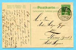 Postkarte Von Neuewelt Nach Flims 1910 Mit Gemaltem Bild Auf Rückseite - Stamped Stationery