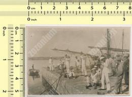 REAL PHOTO,1925 Solun Kraljevska Mornarica Royal Navy Kingdom Yugoslavia,vezba U Solunu, Old Snapshut - War, Military