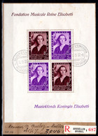 BELGIEN, 1937 Eugène-Ysaye-Musikwettbewerb, Block FDC - Covers & Documents