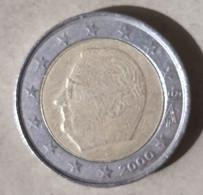2000 - BELGIO - MONETA IN EURO - DEL VALORE DI 2,00 EURO -  USATA - Belgien