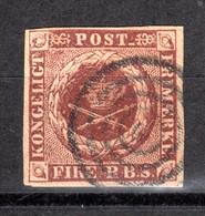 DÄNEMARK, 1851 Freimarke Kroninsignien Im Lorbeerkranz, Gestempelt - Used Stamps