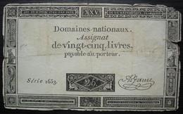 Assignat De 25 Livres  Série 1653 - Assignats & Mandats Territoriaux