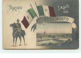 Saluti Dal Reggimento - Torino - Militaire Sur Sa Monture - Altri