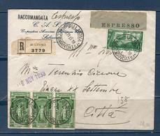 1933 Raccomandata Per Espresso Da SULMONA Per Città - Storia Postale
