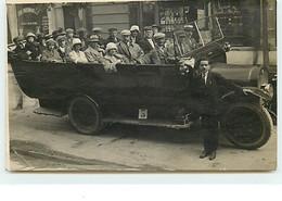 Carte-Photo - Groupe Dans Un Autocar - Girard Photo Grenoble - Bus & Autocars