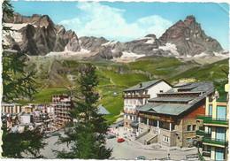 A6904 Cervinia Breuil (Aosta) - Albergo Gran Baita E Partenza Della Funivia - Panorama / Viaggiata 1966 - Altre Città