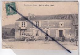 Bouxières Aux Chêne (54) Café - Restaurant De La Fine Aiguille (personnages Et Voiture Des Année 1910) - Autres Communes