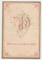 MENU BRUGES 19 AOUT 1884  15 X 10 CM  MARIAGE  DE VICTOR DE POORTERE AVEC HENRIETTE DE COSTER  3 SCANS - Menus