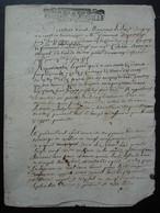 Généralité De Montpellier 1711 Cachet Un Sol La Feuille Requête Contre Antoine Meyrel - Manuscritos