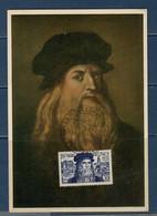 France 1952 Cartolina Maximum Leonardo Da Vinci - 1950-59