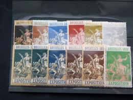 BELG.1897 Serie Bruxelles Exposition Internationale De Bruxelles ** - Commemorative Labels