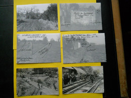 Photo ,TRAMWAY Et Gares De Haute-GARONNE , Collection Bourneuf ,lire Descriptif ,Saint-Michel ,travaux ,Halte Bontemps - Treinen