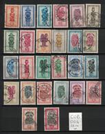 Congo Belge - Belgian Congo - Yvert 277-295 - Scott#231-256 - Masques Africains - Masks - 1947-60: Gebraucht