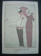 AFFICHE 1912 (Dessin) Georges LEPAGE. Les Jeux D'Argent. Les Courses, à DEAUVILLE - Posters