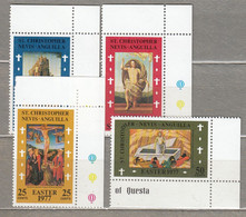 ST CHRISTOPHER NEVIS ANGUILLA 1977 Easter Painting MNH(**) Mi 328-331 #28397 - St.Christopher-Nevis-Anguilla (...-1980)