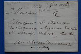 T23 BELGIQUE BELLE LETTRE 1810 LIEGE POUR  CHATEAU DE  VERVOZ FRANCE + AFFRANCHISSEMENT INTERESSANT - 1794-1814 (Franse Tijd)