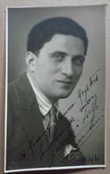 Photo Dédicacée D'un Artiste De Théâtre (signature Illisible)---F.H. Jullien, à Genève - Dédicacées