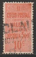 COLIS POSTAUX - N°6 Obl (1892) 10c Rouge Orange - Used