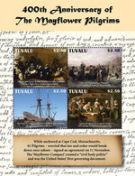 Tuvalu 2020  Mayflower Ship Compact And Pilgrims At Plymouth Rock I202104 - Tuvalu