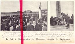 Orig. Knipsel Coupure Tijdschrift Magazine - Messines Wytschaete - Mesen Wijtschate - Monument - 1924 - Zonder Classificatie