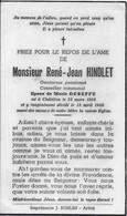 GC . CHATILLON ..-- Mr René HINDLET , GENDARME Pensionné , Né En 1908 , Décédé En 1956 , époux De Mme DEBEFFE Marie . - Saint-Leger